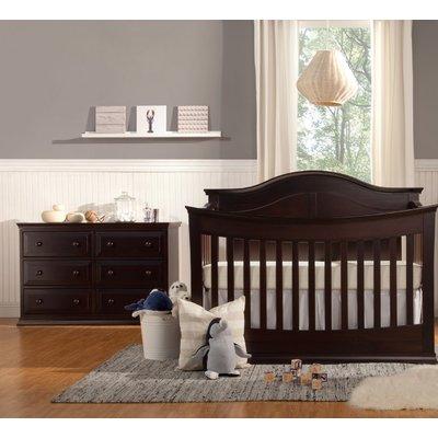 Davinci Meadow 4 In 1 Convertible 2 Piece Crib Set Color Dark Java Nursery Furniture Sets Baby Nursery Furniture Sets Convertible Crib