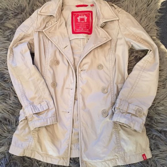 Hip length trench coat Excellent condition, EDC by Esprit trench coat.  Hip length. ESPRIT Jackets & Coats Trench Coats