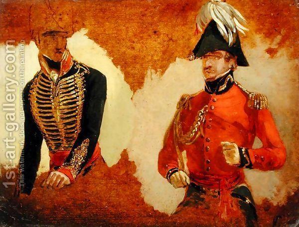Studies of Royal Horse Artillery Uniform and of an ADC to