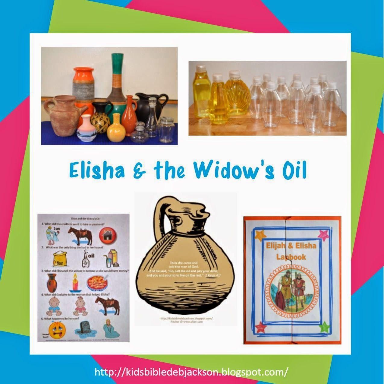 Bible Fun For Kids Elisha Amp The Widow S Oil