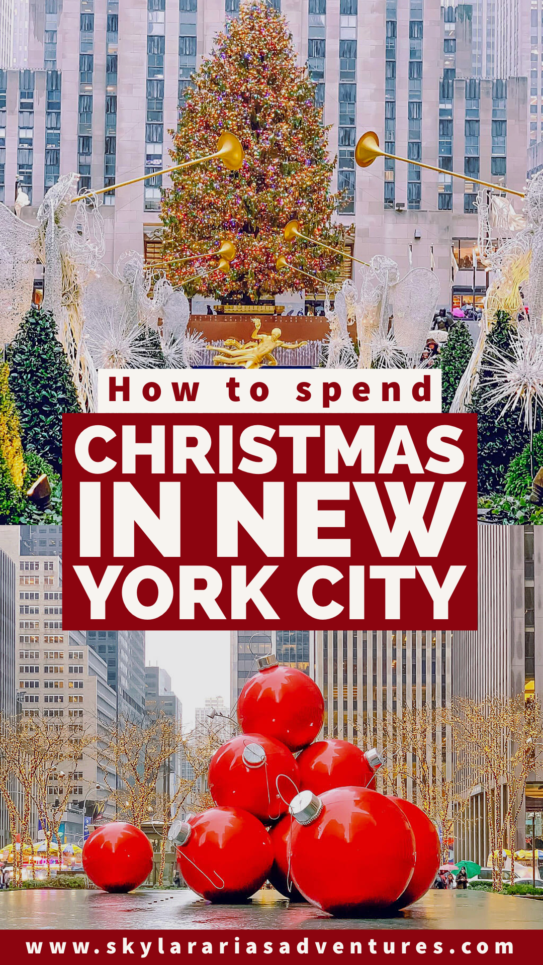 Top things to do during the holidays in New York City! New York comes alive all dressed up at Christmas time #christmasinnewyorkcity #christmasinNYC #newyorkcity #newyorkcitytravel #christmastravel #travel #familytravel #tripideas #traveltips #usdestinations