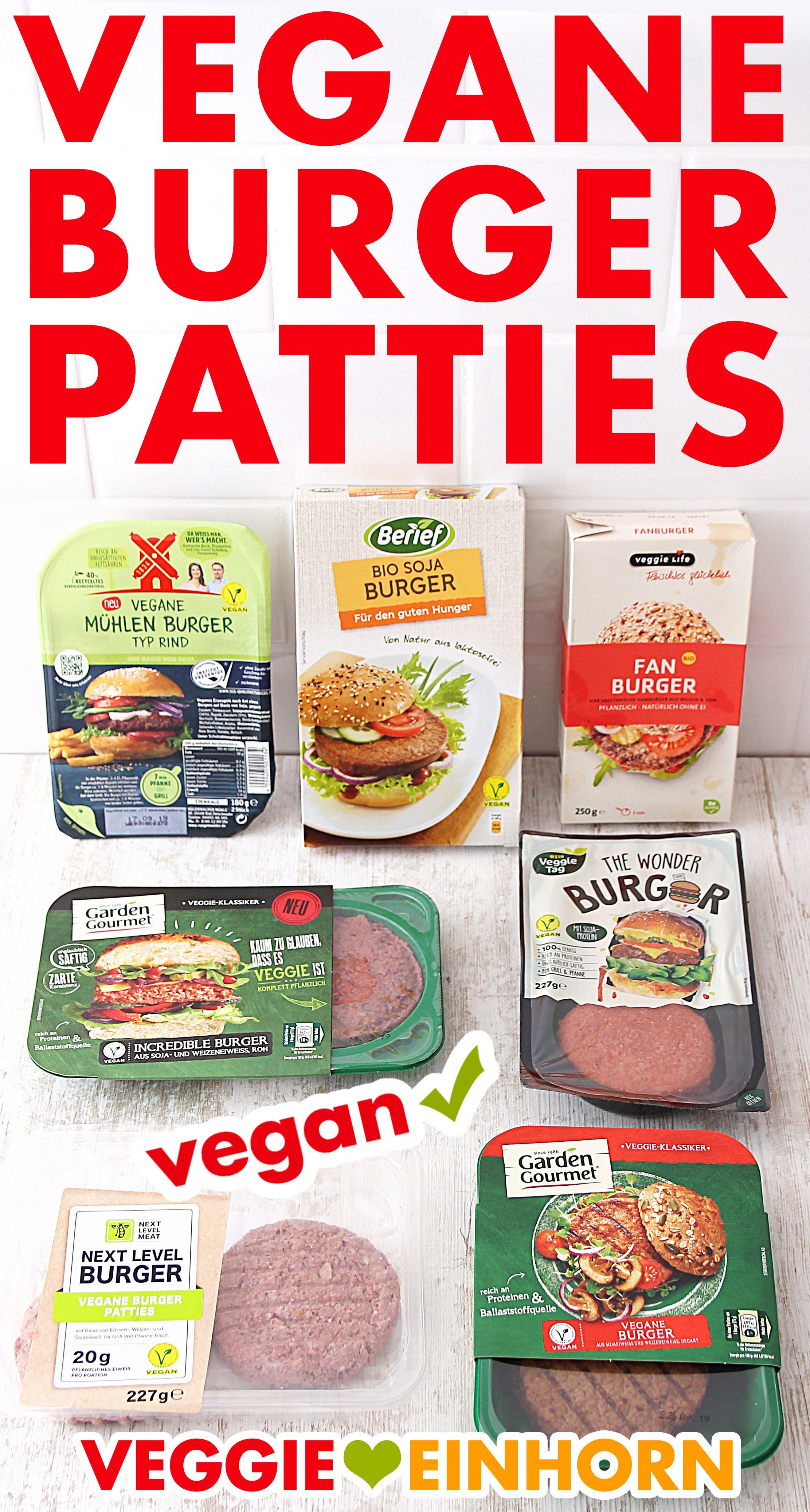 Vegane Burger Patties Aus Dem Supermarkt Vegane Burger Vegane Fleischersatz