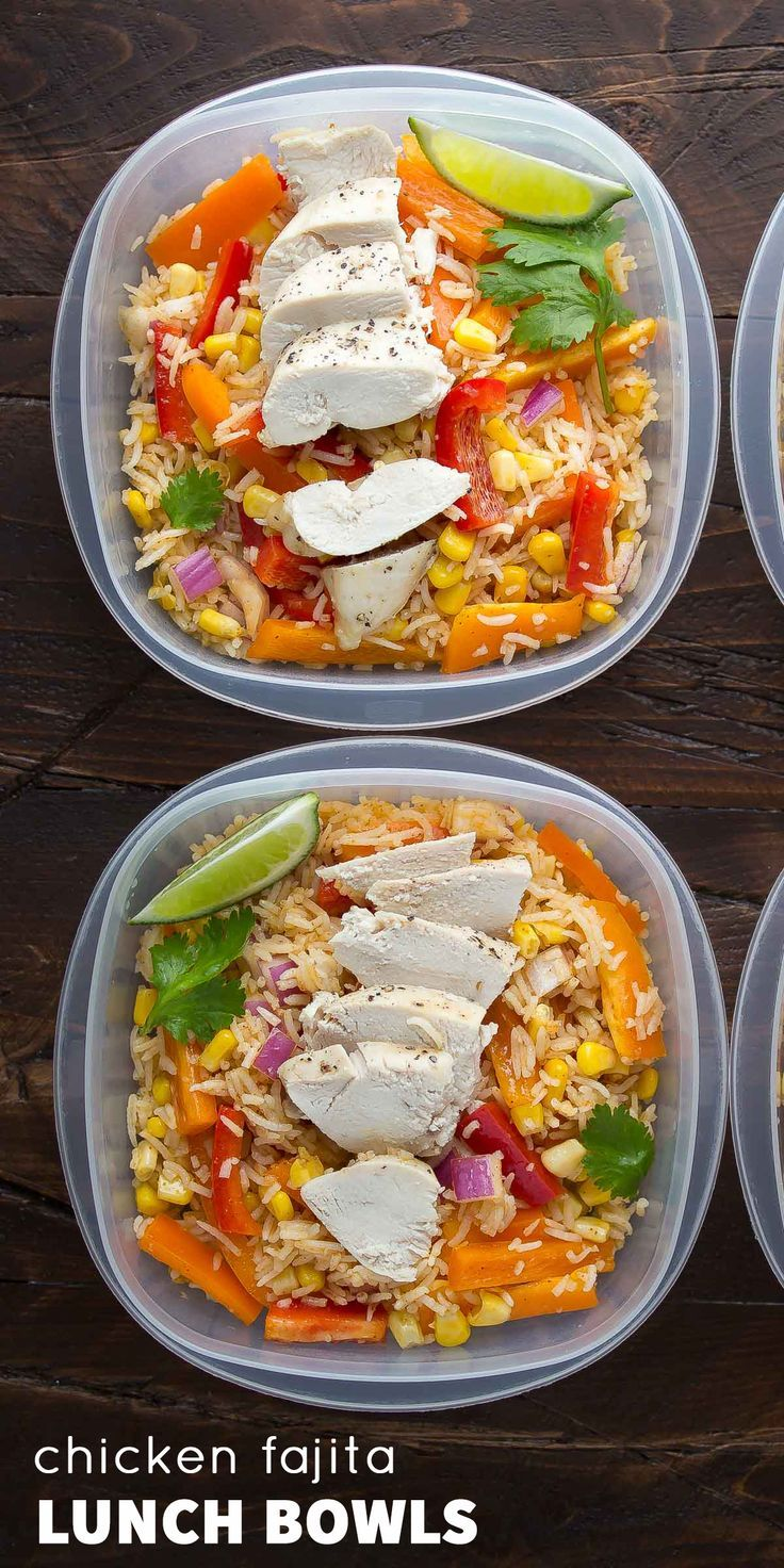 Make ahead chicken fajita lunch bowls recipe lunches bowls food forumfinder Choice Image