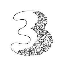 Картинки по запросу цифра три   Трафареты, Киригами, Алфавит