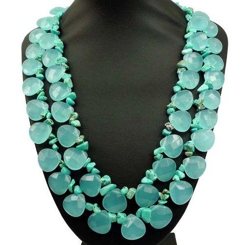 Beautiful Aqua Quartz Turquoise Necklace | eBay