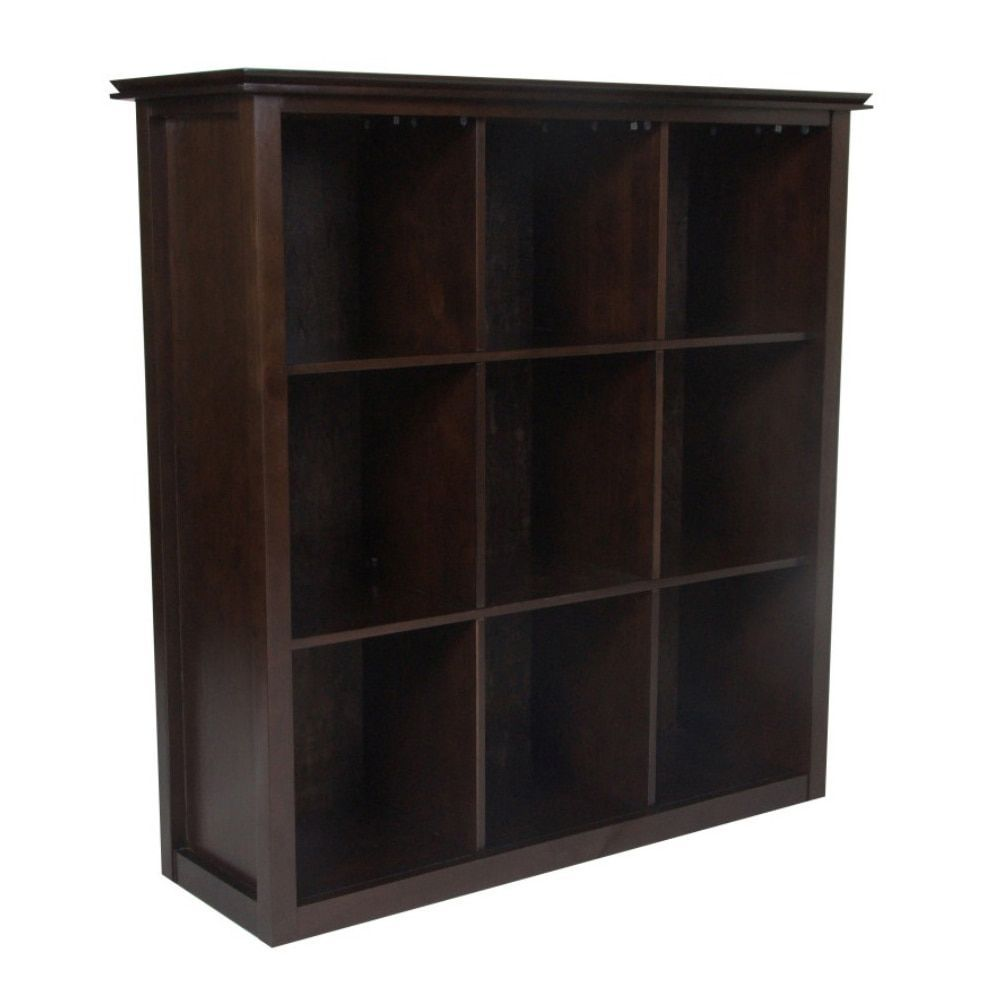 Wyndenhall stratford espresso 9 cube bookcase storage unit