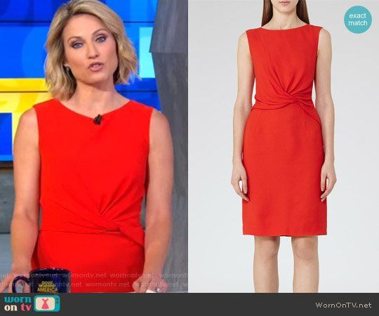 Amy S Red Twisted Front Dress On Good Morning America Good