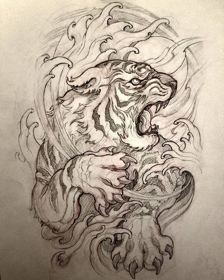 "Brian no Instagram: ""Tiger sleeve coming soon . # ..."