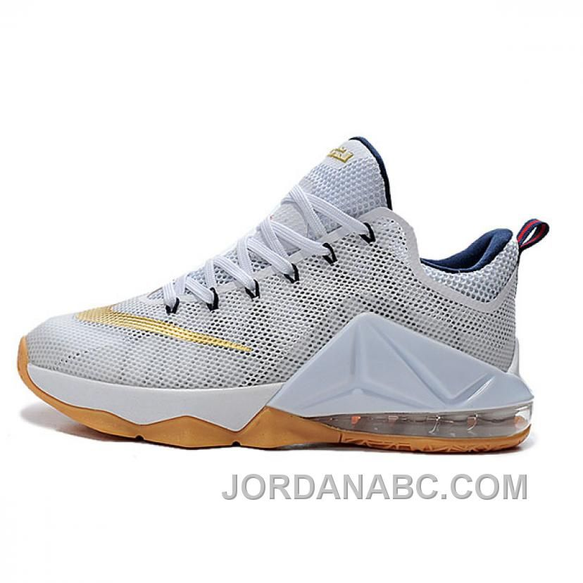 Nike Lebron James XII Low White Gold Basketball Shoes Cheap To Buy, Price:  $119.00 - Air Jordan Shoes, New Jordans