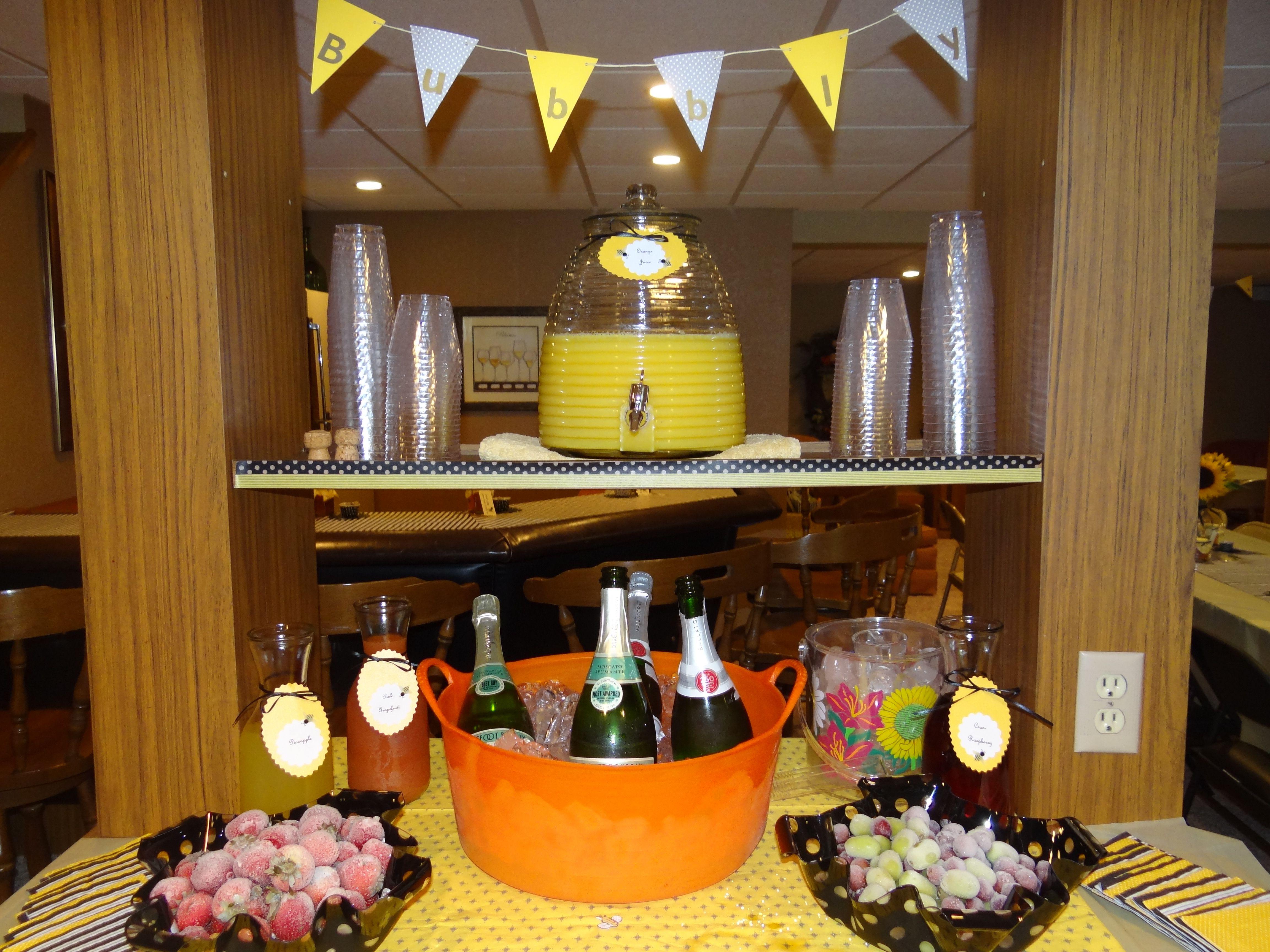 Bee themed bridal shower mimosa bar bridal shower