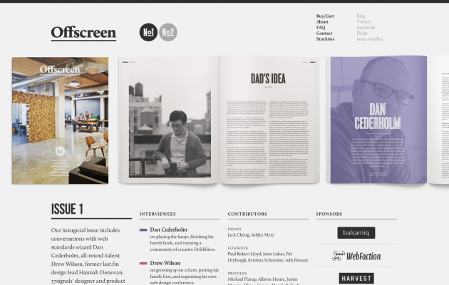 Offscreen Magazine, inspirational reading material for digital designers. via styleboost