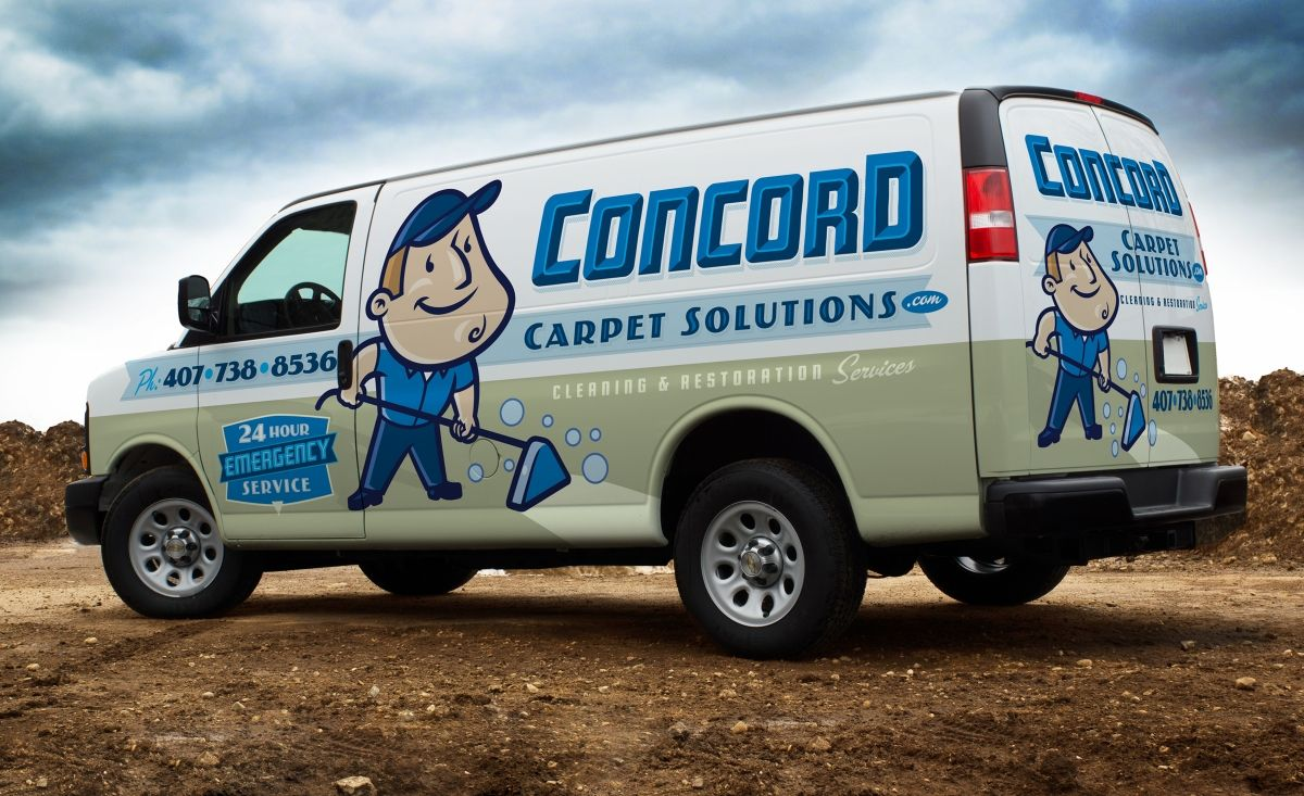 Retro Themed Logo And Truck Wrap For A Carpet Cleaning Company In