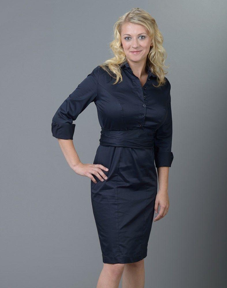 Maximila Hella shirt dress in navy blue. | Kleider ...