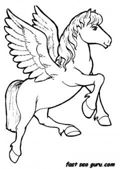 Unicorn Coloring Pages Animals