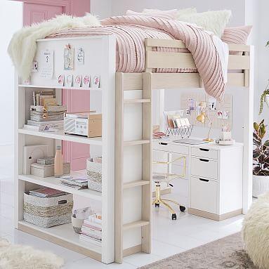 Rhys Loft Bed With Desk Set Loft Beds For Teens Modern Loft Bed Loft Bed