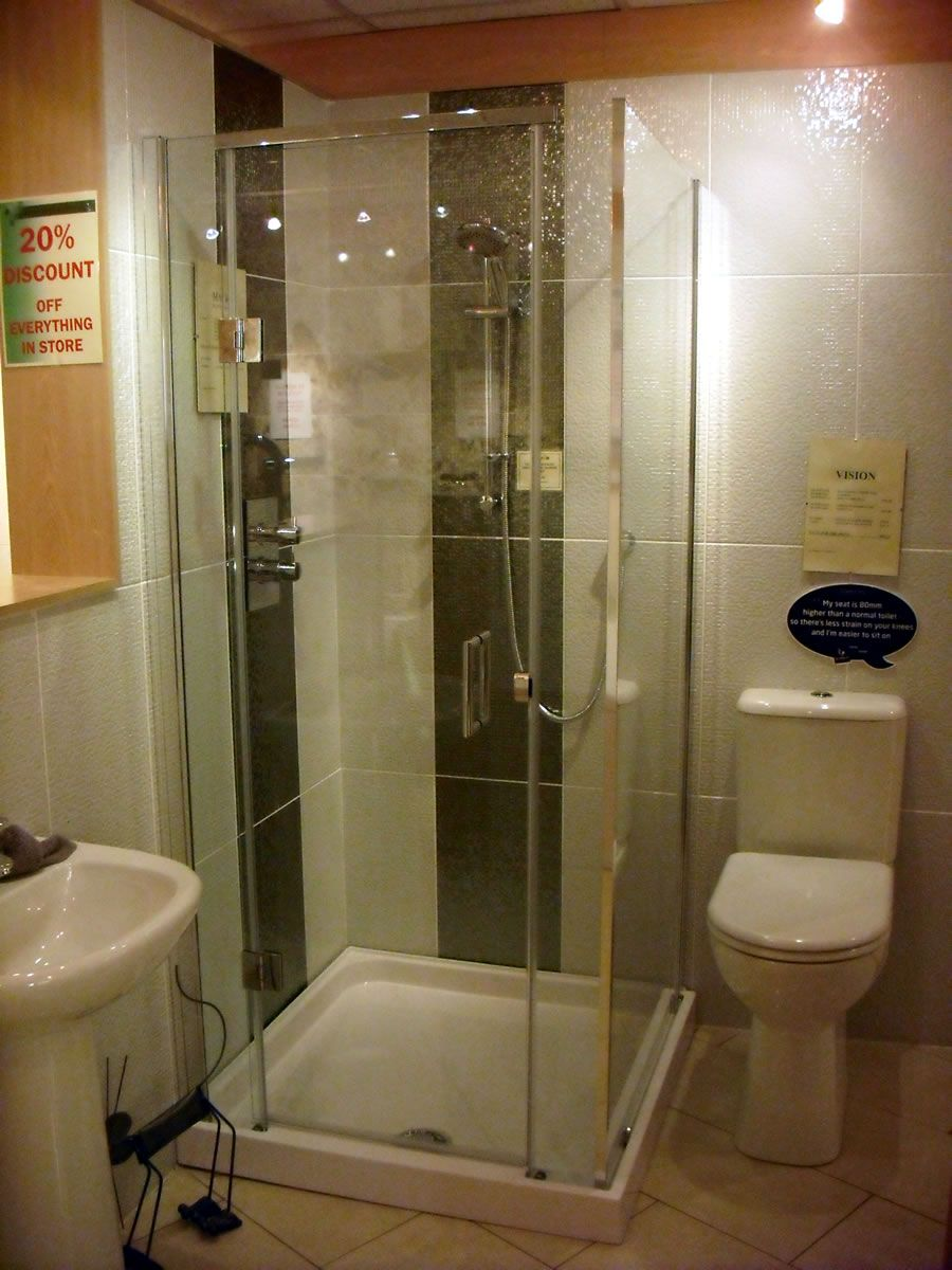 Walk in shower ideas corner 900mm shower cubicle for Shower and bathroom designs