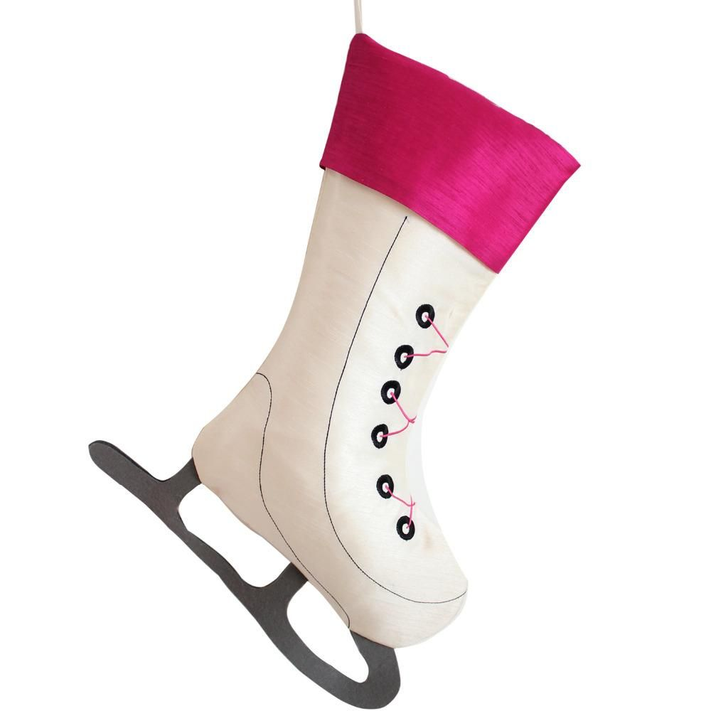 Ice Skate Stocking | Home Decor | Pinterest | Christmas decor ...