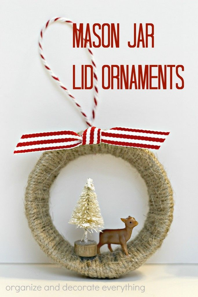 Mason Jar Lid Ornaments Mason Jar Lids Ornaments Christmas Jars Mason Jar Lids Crafts