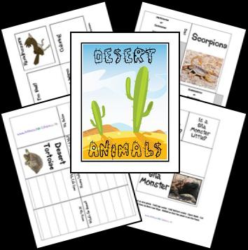 Free Desert Animals Unit Study Lessons and Lapbook ...