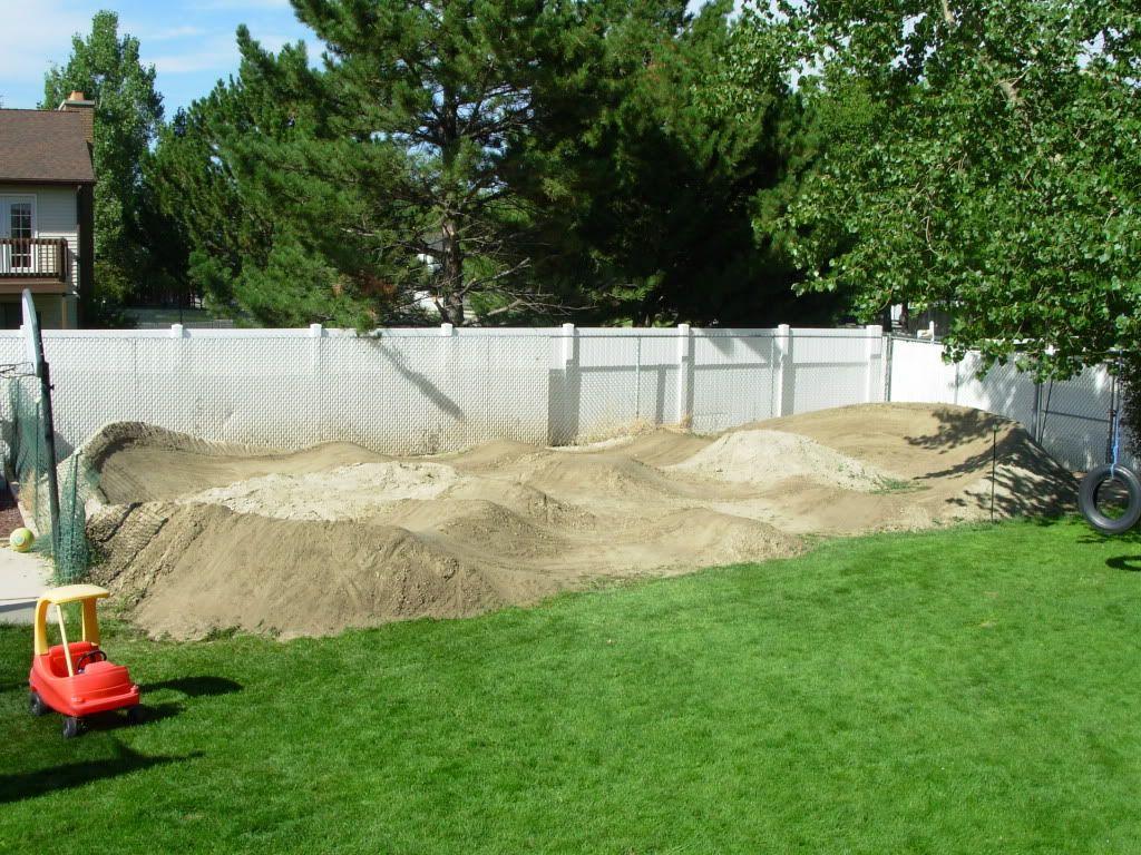 backyard pump track | Bike pump track, Dirt bike track ...