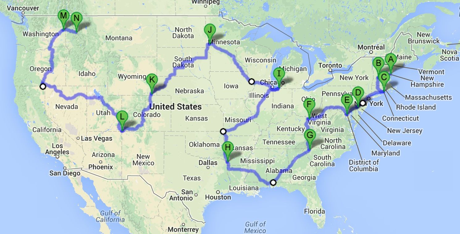 cool mapthe shortest driving route through all 48 contiguous us states takes 113 hours find this pin and more on travel