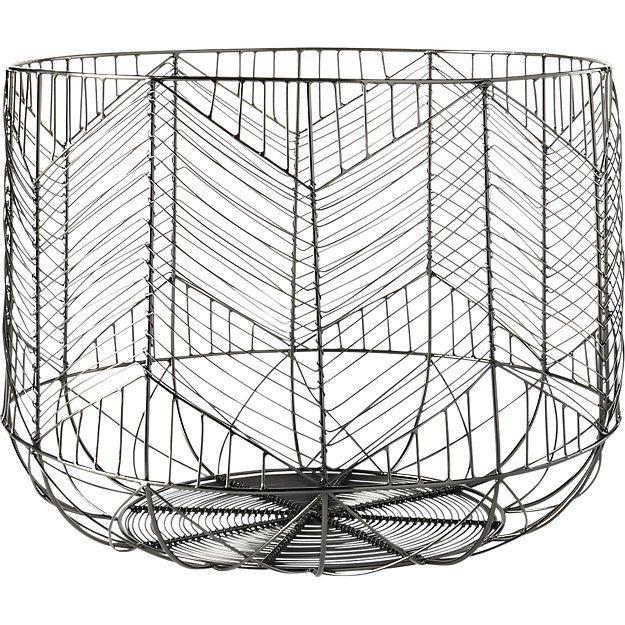 blanche metal baskets | CB2 | Masterson - Living Room | Pinterest ...