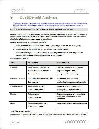 Business case analysis example google search business business analysis template business case template 22 pages ms word with free sample materials flashek Gallery