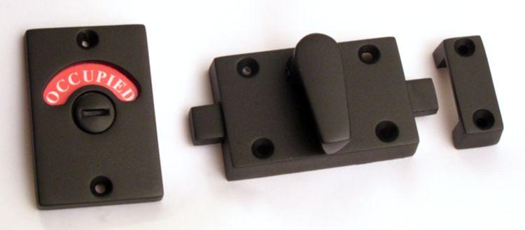 Flat Black Finish Ada Compliant Bathroom Privacy Indicator Lock Is