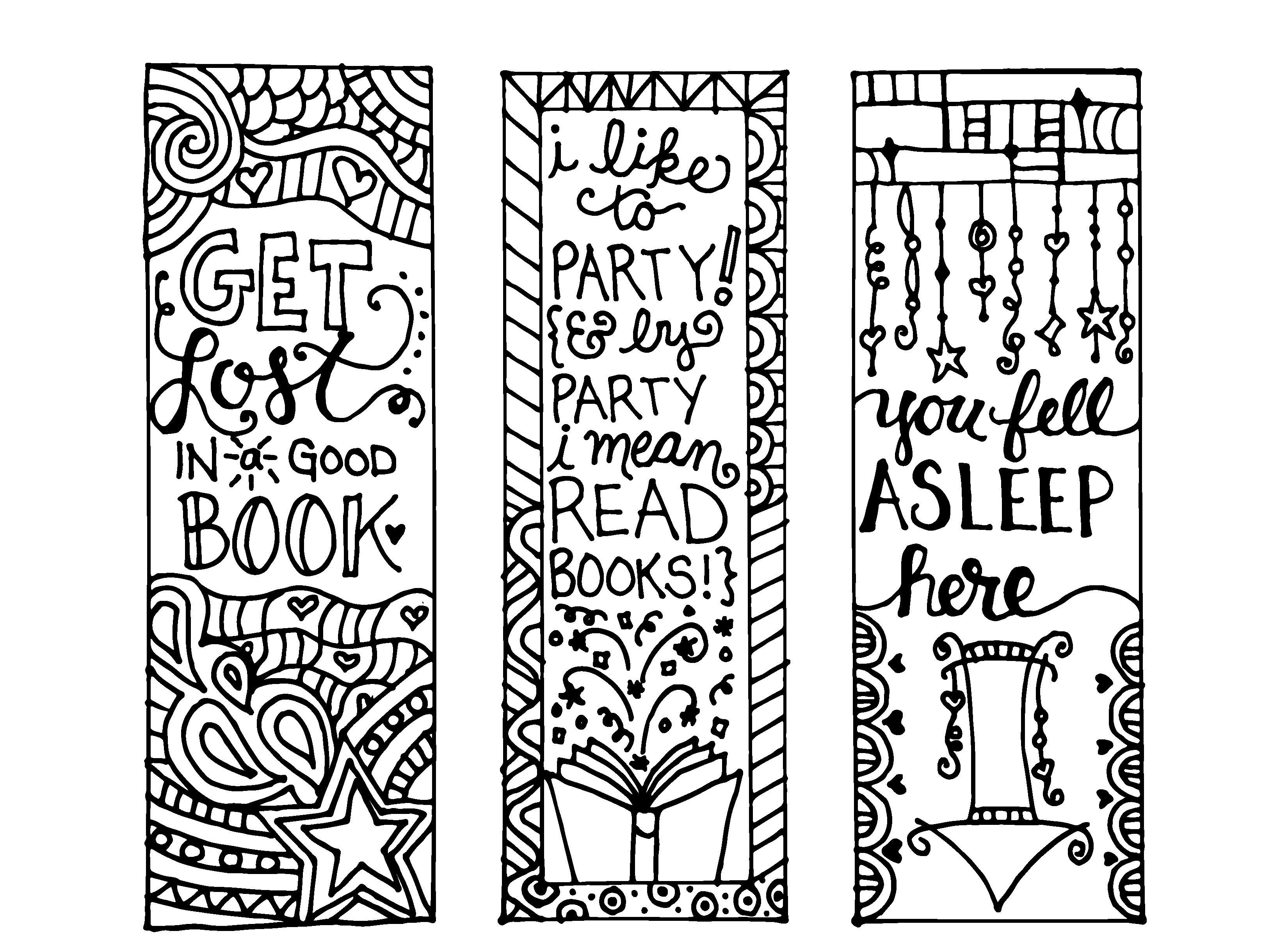 Kitap Ayraci Kaliplari 2 Adult Coloring Pages Kitap Ayraci Kitap