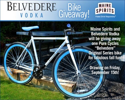 Win A Belvedere Vodka Mountain Bike Value 399 99 9 15 Us