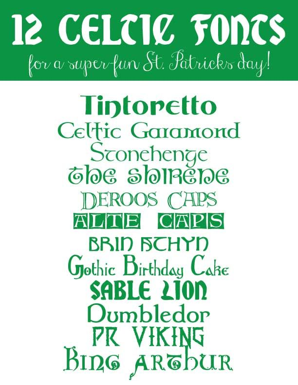 Celtic Isnt Just For Scotland But Didnt Want To Create A Board This One 12 Fonts Fun St Patricks Day