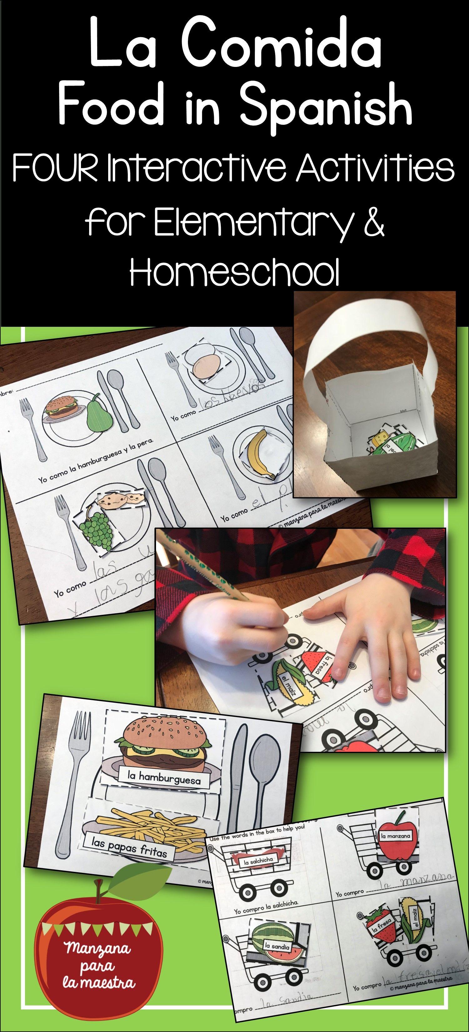 Spanish Food Interactive Activities No Prep Lesson La