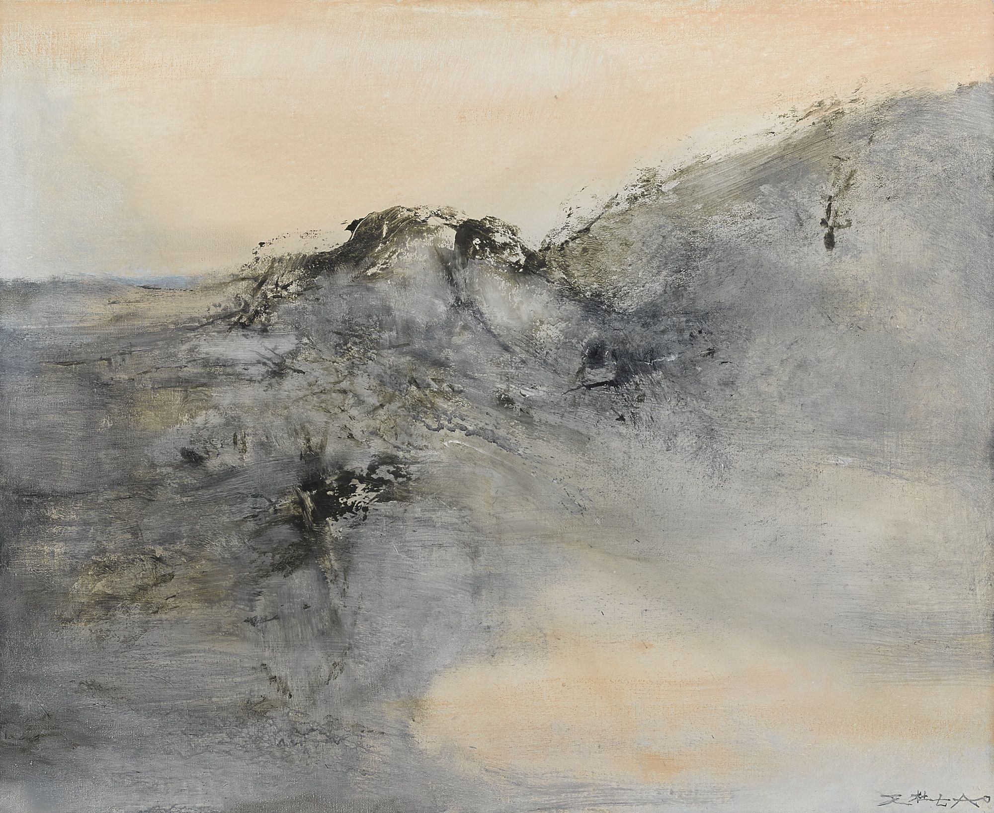 Zao Wou Ki 1921 2013 26 12 2001 This Work Is Accompanied By A