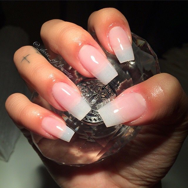 Natural acrylic nails #nails #naturalnails #acrylicnails ...