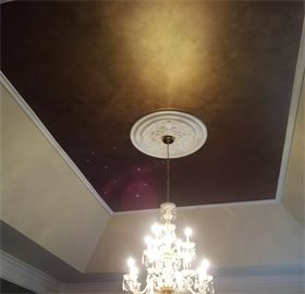 Pin By Kristen Horwith On Metallic Paint Projects Tray Ceiling Painted Closet Painted Bronze