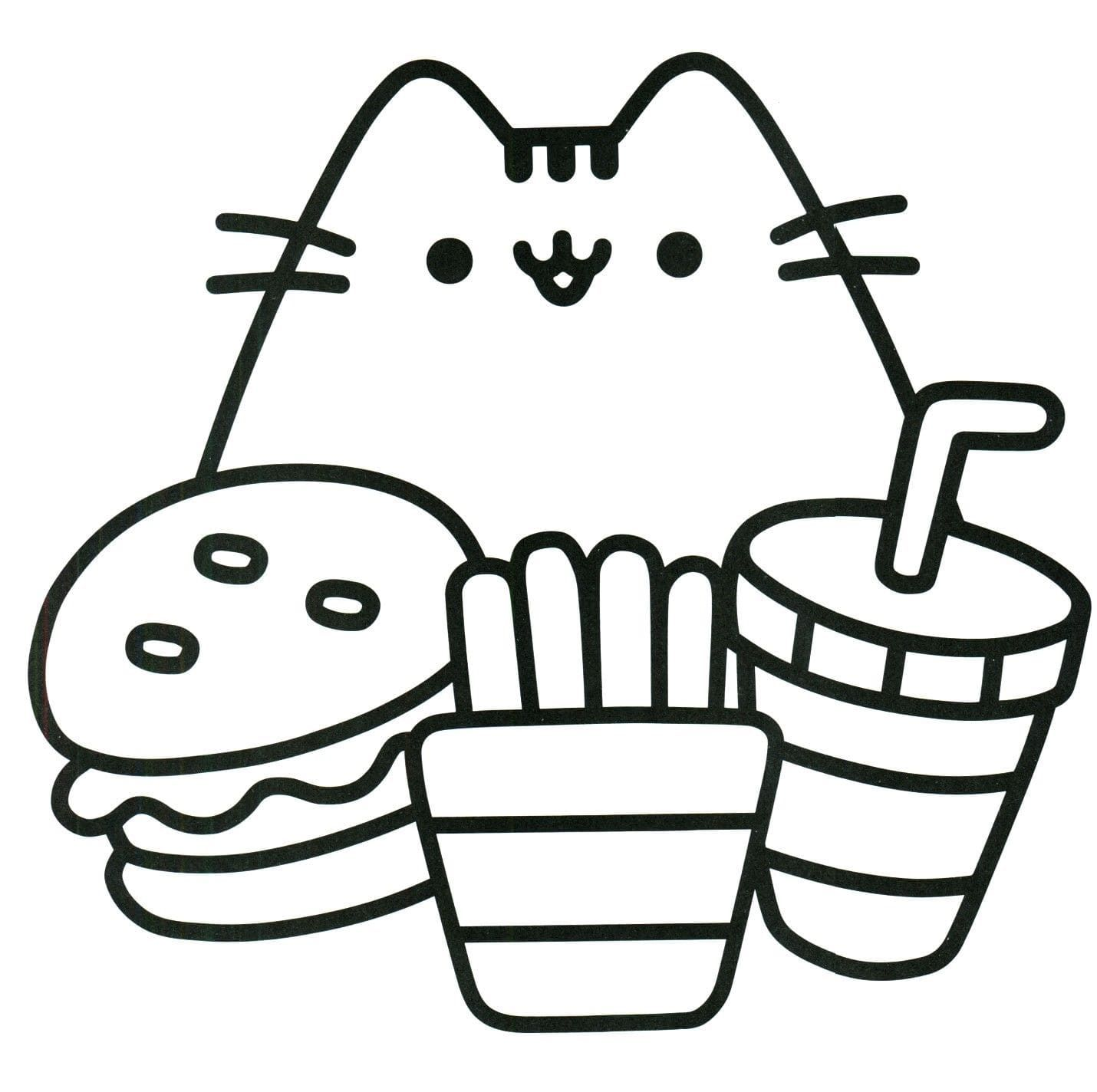 Hello Kitty Coloring Pages Food Designs Collections