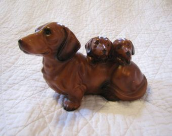 Dachshund Melamine Dinnerware Mini Wiener Dachshund Mama Dog And