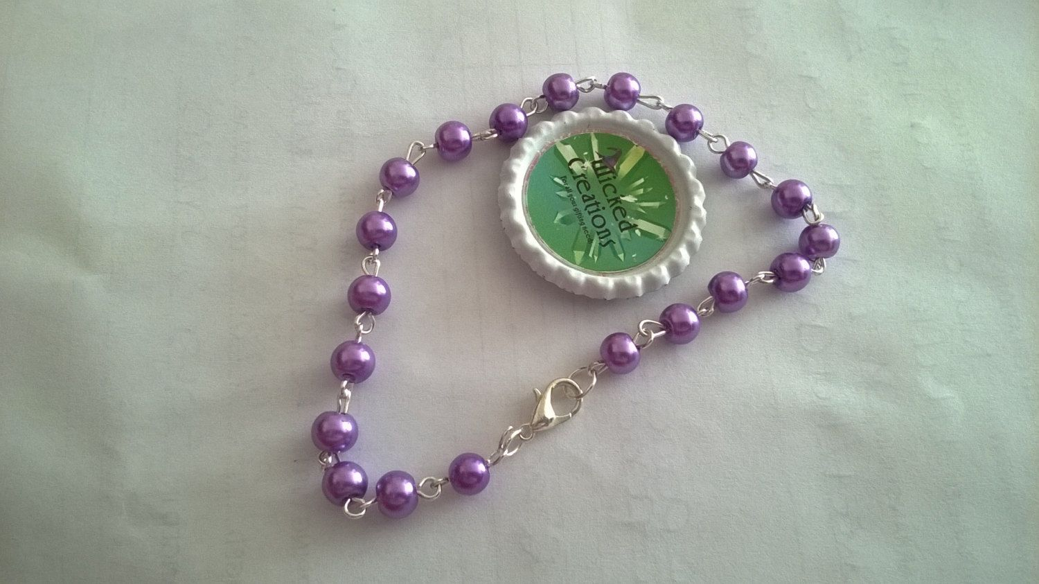 beaded anklet by StarsCards1 on Etsy