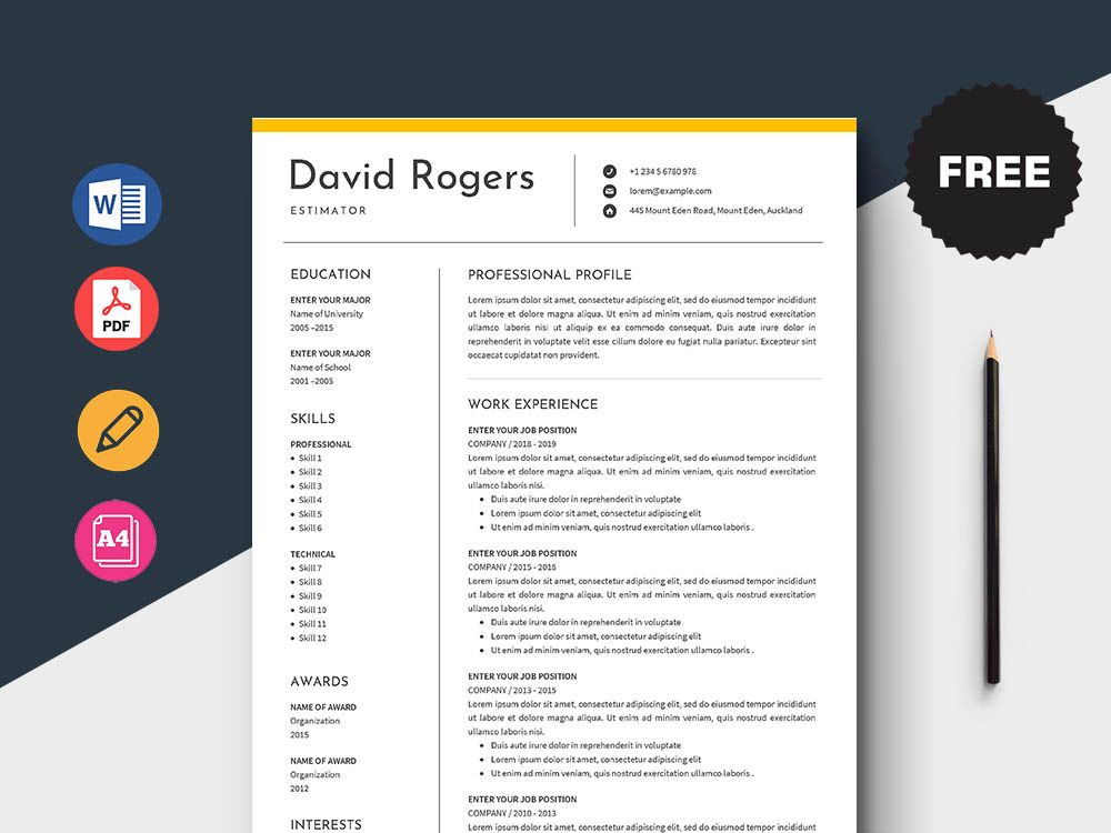 Today we bring you the outstanding and very clean resume