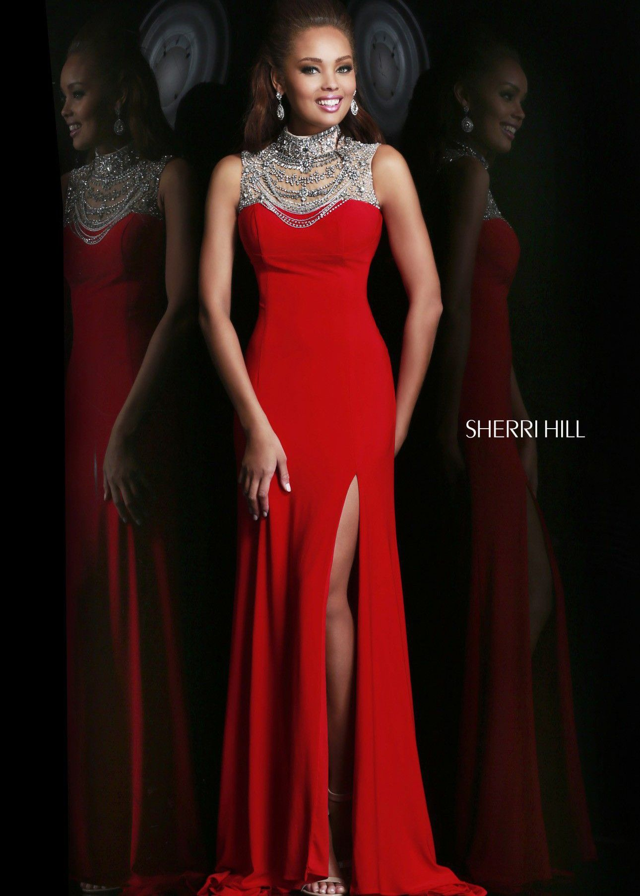 Sherri hill beaded evening gown prom collection