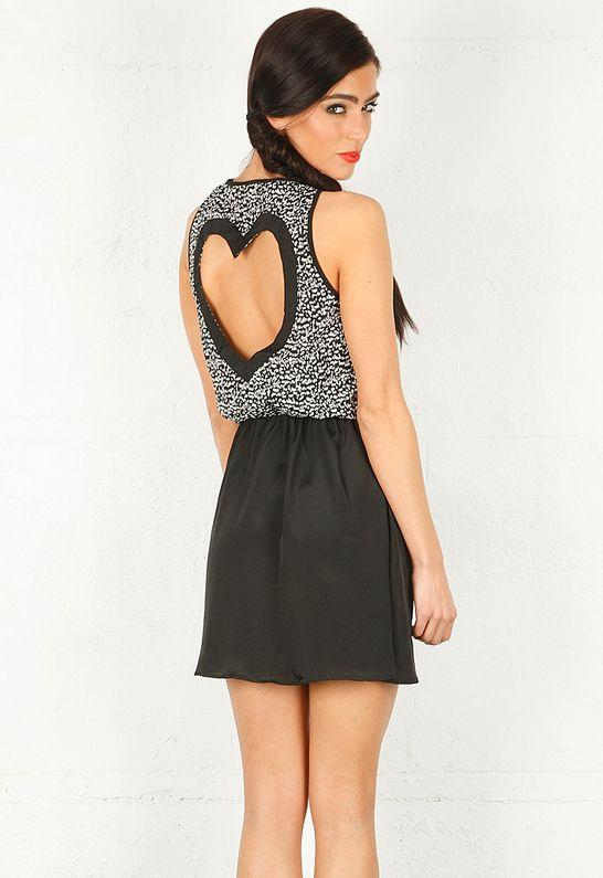 REVERSE Heart Back Dress in 2 Colors