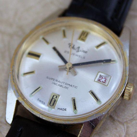 vintage valgine 25 jewel wrist watch automatic movement circa vintage valgine 25 jewel wrist watch automatic movement circa 1960 s mad men style