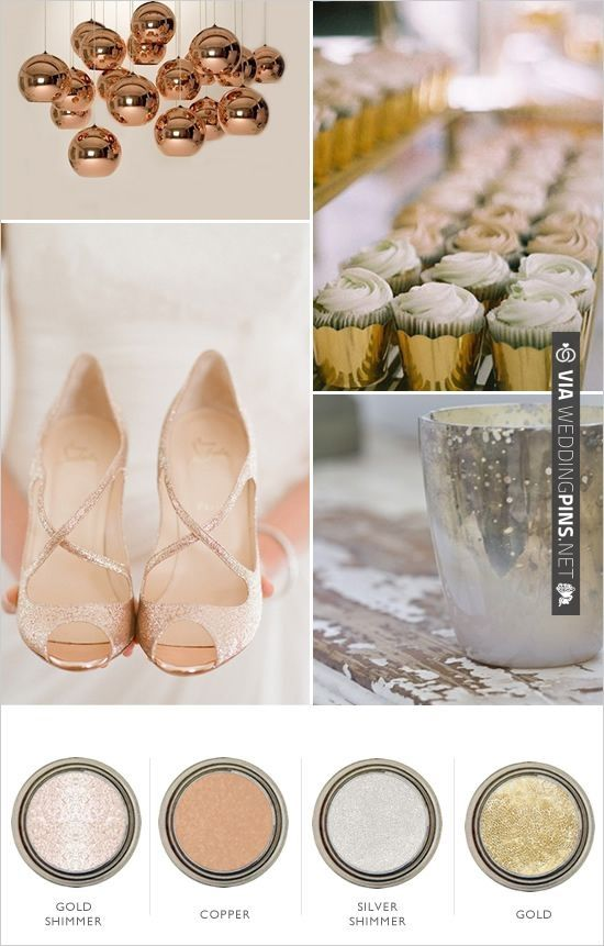Metallic Color Palette Check Out More Ideas At Weddingpins Net Weddings