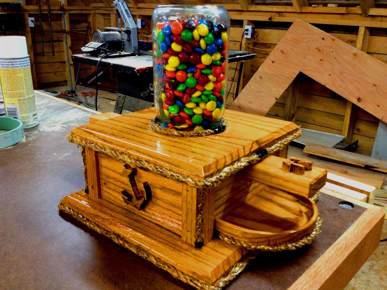 DIY Ball Mason Jar M&M Candy Machine | DIY creations | Pinterest | Ball mason jars, Candy ...