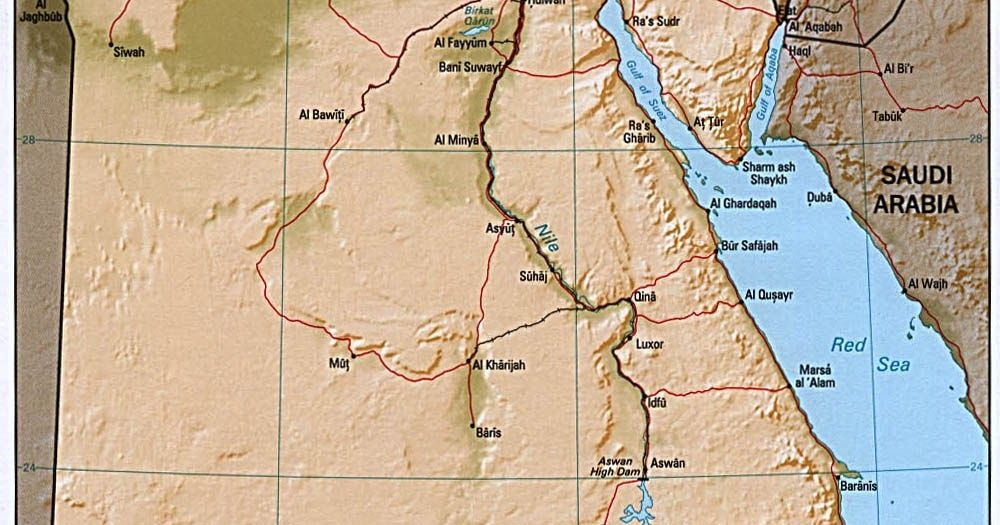 Middle Kingdom Egypt Map.Shaded Relief Map Of Egypt Recent Posts Map Of The Sassanid Empire