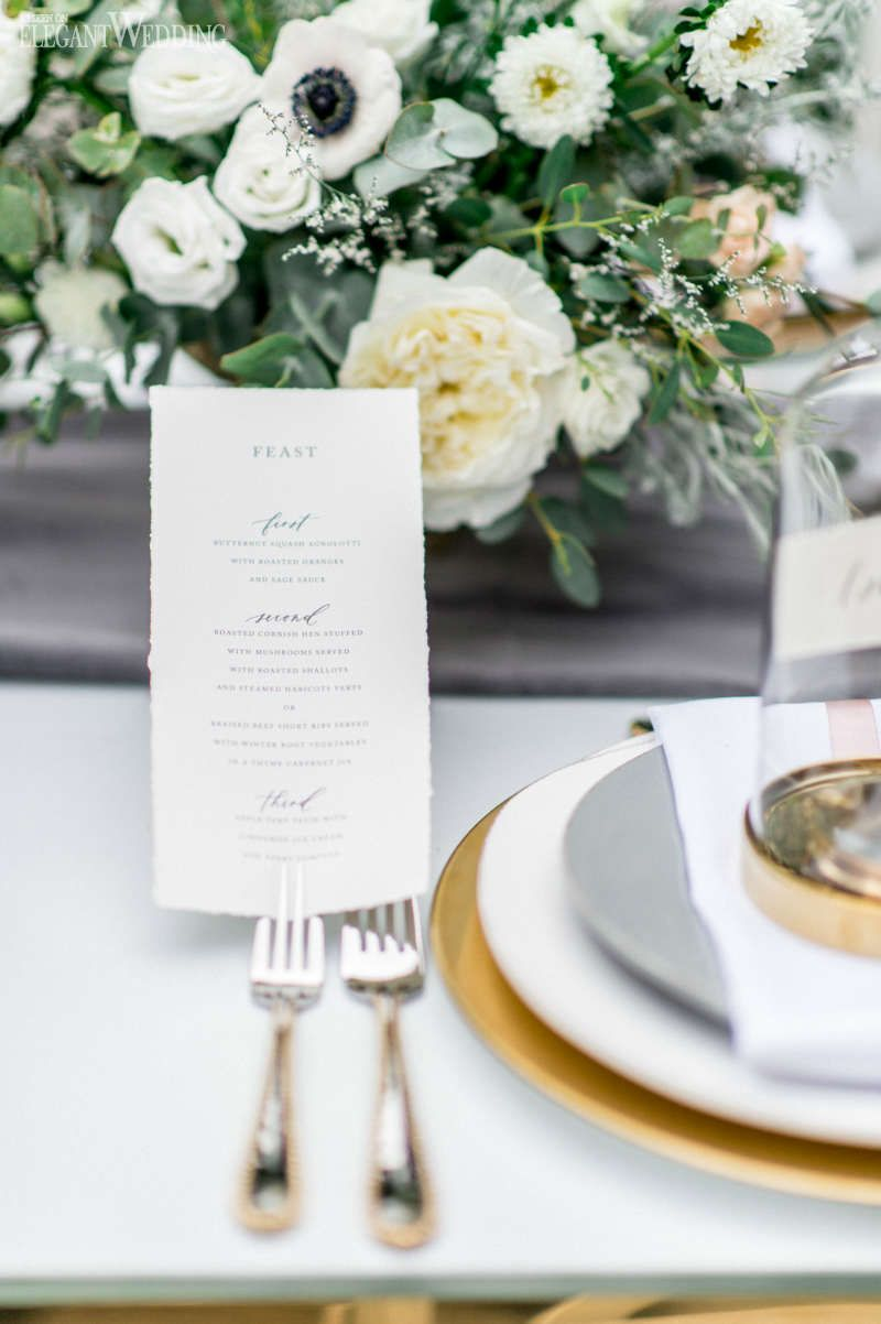 Free Spirited Bohemian Wedding Ideas Grey And Gold Table Setting Cloche Centrepieces
