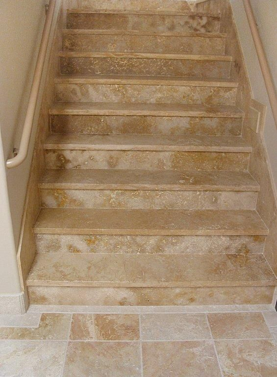 Tiles For Stairs Part 5   Travertine Tile On Stairs