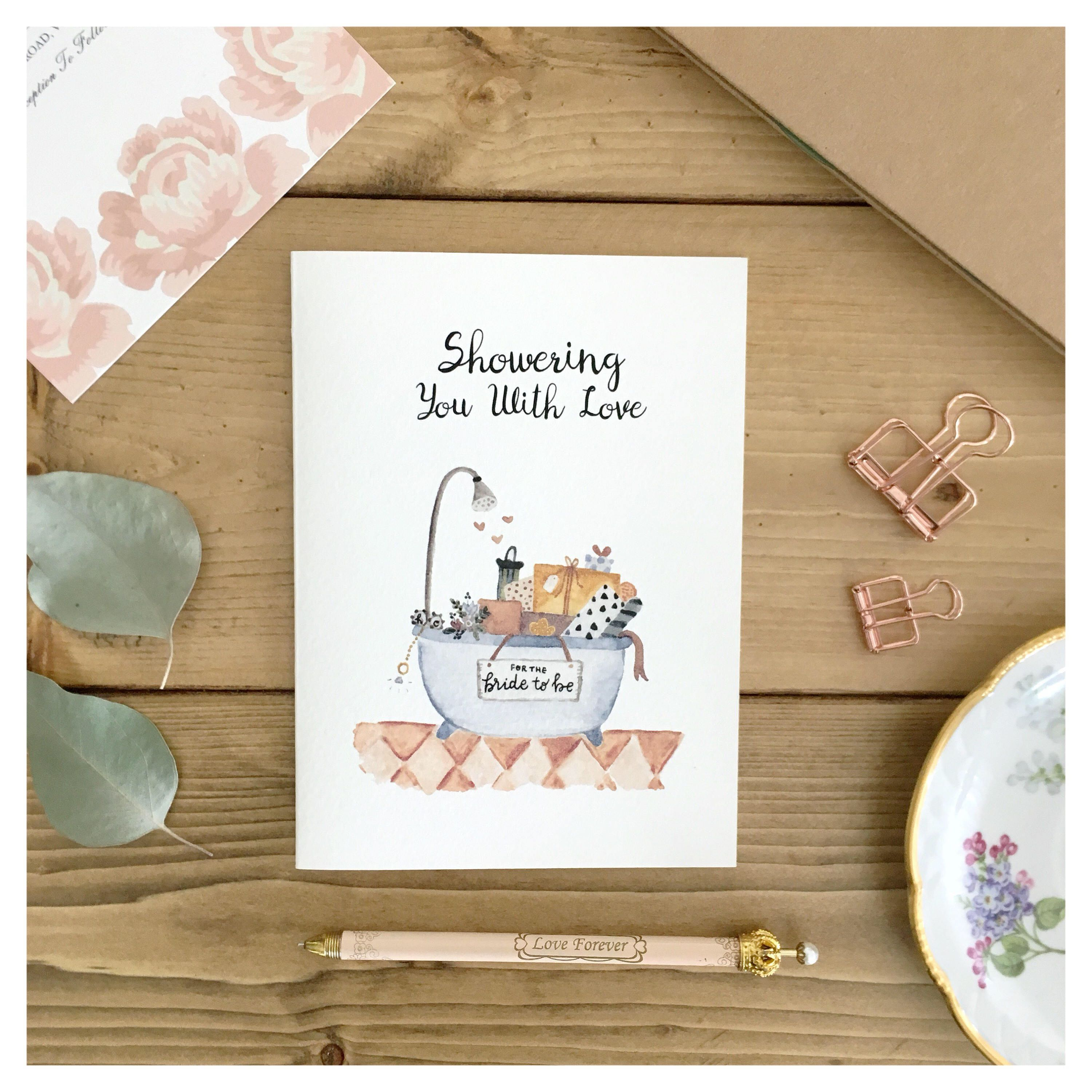 bridal shower card bridal shower gift card for bride cute card for bride