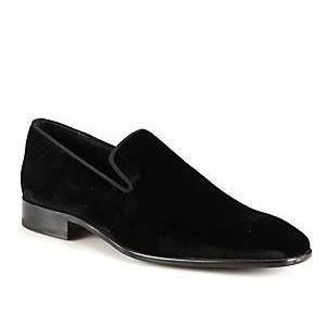 Saks Fifth Avenue COLLECTION Velvet Loafers iHNG9