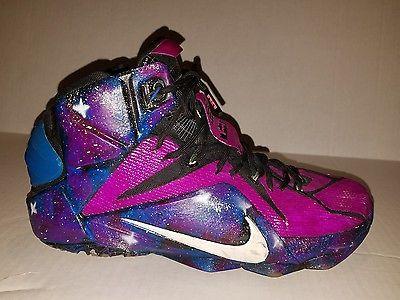 best website 66501 3f889 Nike Lebron XII 12 All Star Game 742549-190 Galactic Design Custom Colors  -11-
